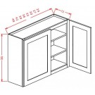 "36"" High Wall Cabinets - Double Door"