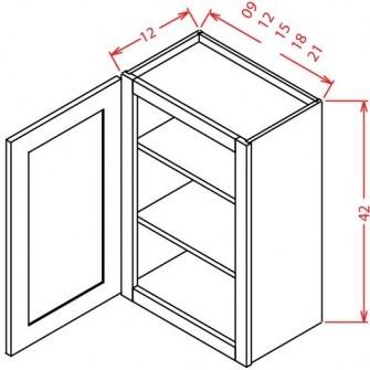 """42"""" High Wall Cabinets - Single Door"""