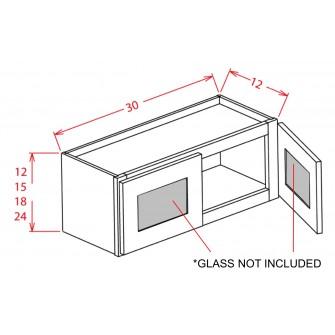 """Glass Door For 30"""" Bridge Cabinets"""