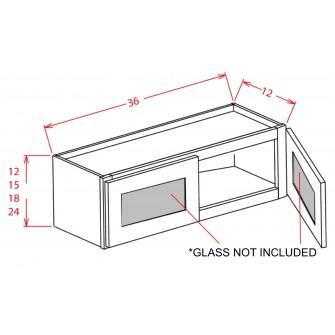 """Glass Door For 36"""" Bridge Cabinets"""