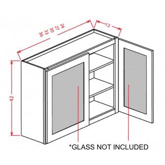 """Glass Door For 42"""" High Wall Cabinets - Double Door"""