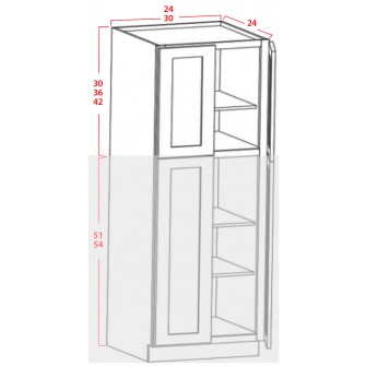 Upper Utility Cabinets - 4 Doors