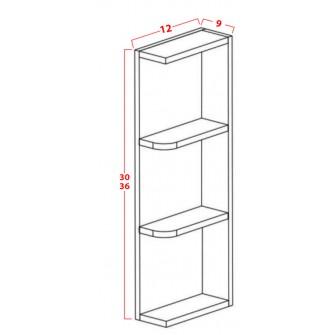 Wall End Open Shelves - Three Shelves