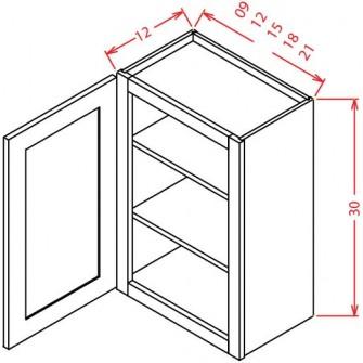 """30"""" High Wall Cabinets - Single Door"""