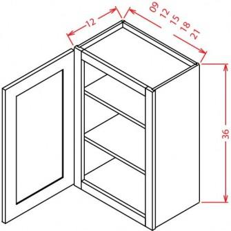"""36"""" High Wall Cabinets - Single Door"""