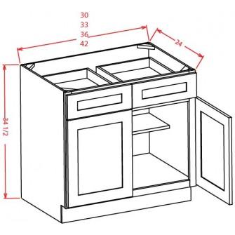 Double Door Double Drawer Bases