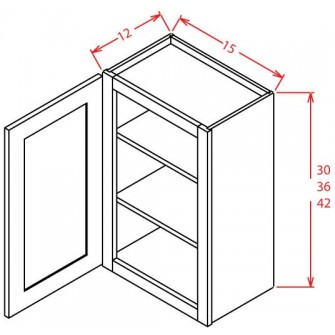 Open Door Frame Wall Cabinets - Single Door