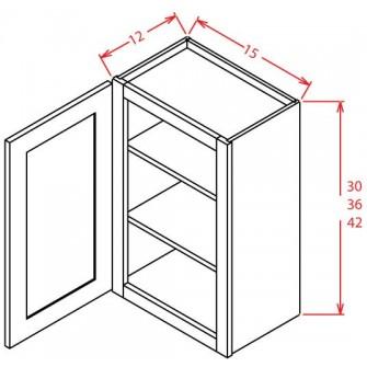 Open Door Frame Wall Cabinets - Single Door