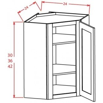 Open Door Frame Diagonal Corner Wall Cabinets