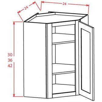 Open Door Frame Diagonal Corner Wall Cabinets