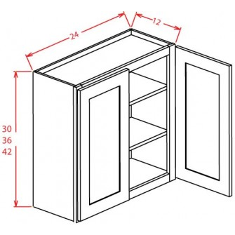 Open Door Frame Wall Cabinets - Double Door