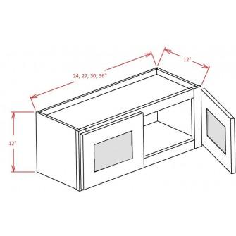 Stacker Wall Glass Door Cabinet – Double Door