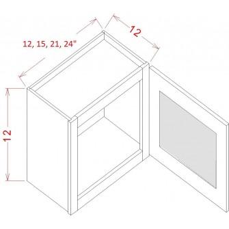 Stacker Wall Glass Door Cabinet - Single Door