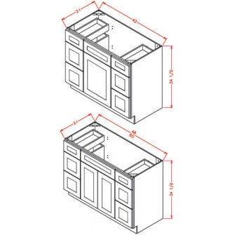 Vanity Combo Bases – Double Drawer Stack