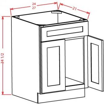 Vanity Sink Bases - Double Door Single Drawer Front