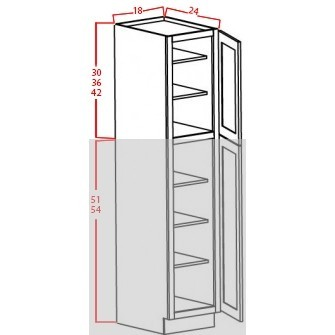 Upper Utility Cabinets-2 Doors